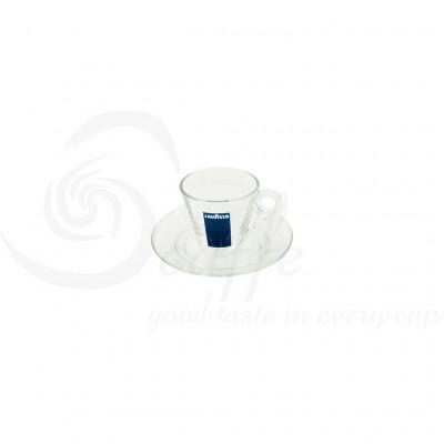 Set Cesti si Farfurii Sticla Espresso Lavazza, 12 buc