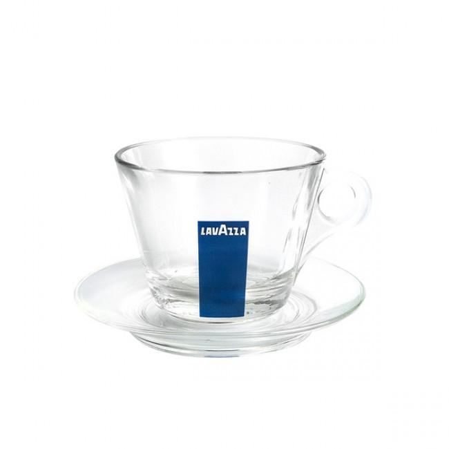 Farfurie pentru ceasca cappuccino sticla (6 Buc./ Set)
