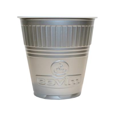 Pahare Plastic Coveris Expert Covim Argintii, 166 ml, 100 buc