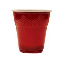 Pahare Plastic Swing Coveris Covim Rosii, 166 ml, 100 buc