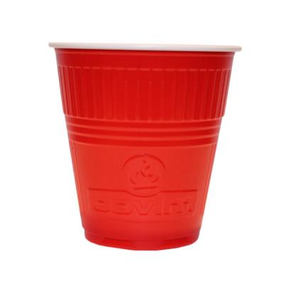 Pahare Plastic Automate Covim Rosii, 166 ml, 100 buc