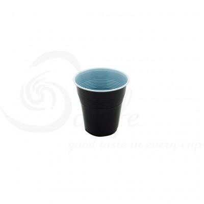 Pahare Plastic Coveris Covim Negre, 166 ml, 3000 buc