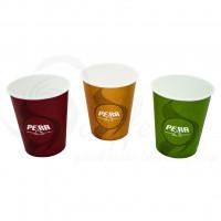 Pahare Carton Pera Trio, 180 ml, 100 buc