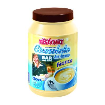 Ciocolata Alba Borcan Ristora, 0,8 kg