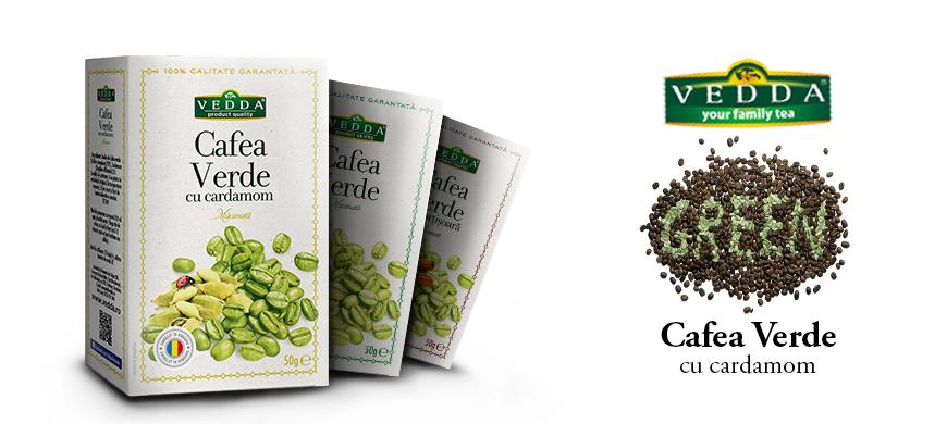 Cafea Verde cu Cardamon