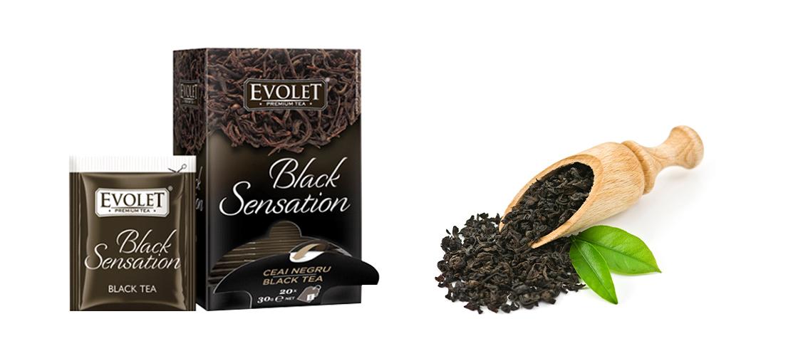 Ceai negru Evolet 20 plicuri